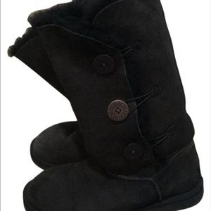 Ugg black boots with buttons